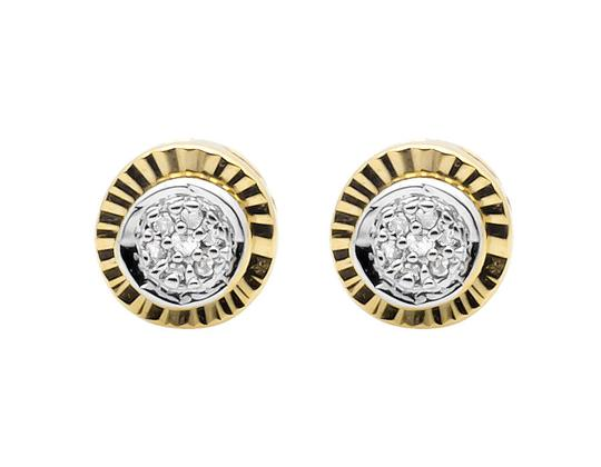 Preload https://item3.tradesy.com/images/yellow-gold-finish-6mm-starburst-miracle-frame-diamond-stud-010ct-earrings-21259267-0-0.jpg?width=440&height=440
