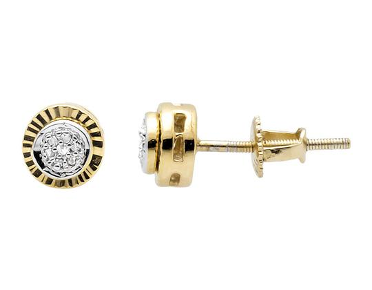Other 6MM Starburst Miracle Frame Diamond Stud Earring 0.10ct.