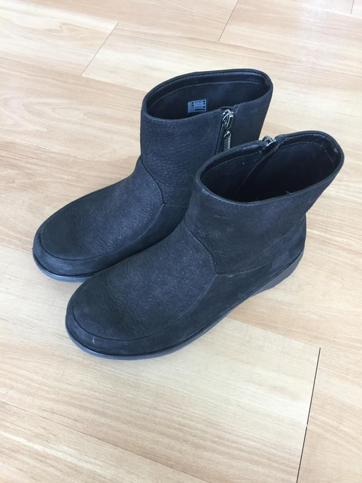 690c64f0c FitFlop Black Womens Loaff Shorty Zip Nubuck Ankle Pull On Boots ...