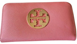 Tory Burch pink and gold Clutch