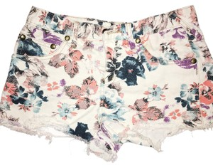 Free People Cut Off Shorts off white, floral pattern