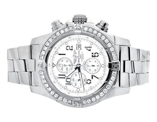 Preload https://img-static.tradesy.com/item/21259443/breitling-stainless-steel-custom-a13370-super-avenger-white-dial-with-45-ct-watch-0-1-540-540.jpg