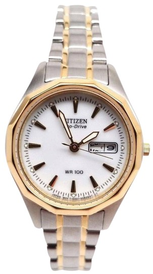Preload https://item2.tradesy.com/images/citizen-eco-drive-women-s-ew3144-51a-sports-two-tone-wr100-day-and-date-watch-21259466-0-1.jpg?width=440&height=440