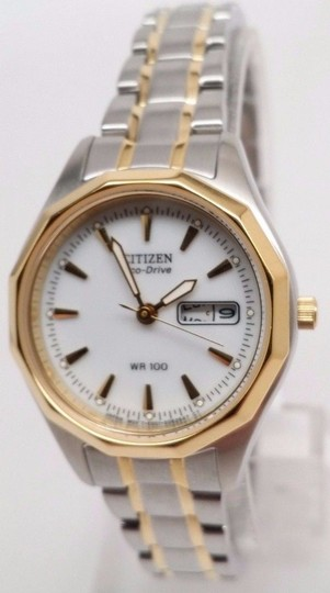 Citizen Eco-Drive Women's EW3144-51A Sports Two-Tone WR100 Day & Date Watch