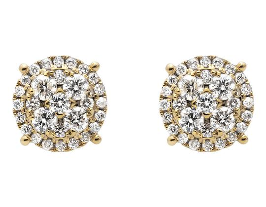 Preload https://item2.tradesy.com/images/14k-yellow-gold-9mm-halo-flower-shaped-quad-genuine-diamond-stud-20ct-earrings-21259471-0-0.jpg?width=440&height=440