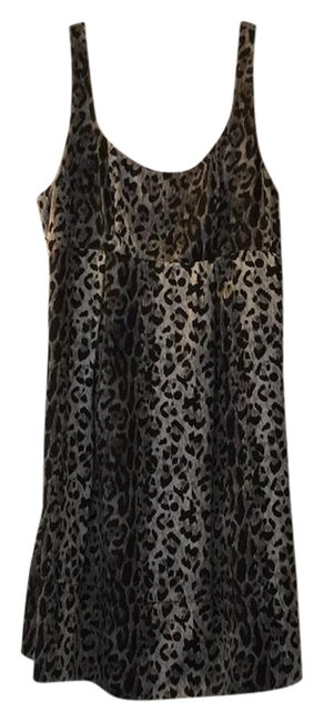 Preload https://item3.tradesy.com/images/the-limited-silver-leopard-print-macn0285-short-night-out-dress-size-2-xs-21259492-0-1.jpg?width=400&height=650