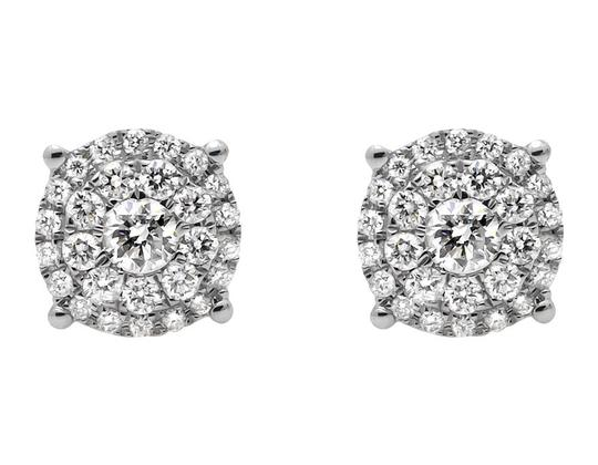 Preload https://item1.tradesy.com/images/10k-yellow-gold-solitaire-accent-8mm-halo-flower-round-diamond-stud-1ct-earrings-21259505-0-0.jpg?width=440&height=440