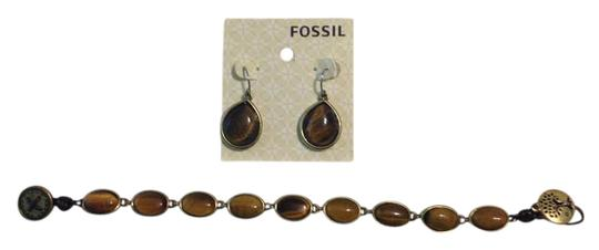 Preload https://item5.tradesy.com/images/fossil-brown-and-earring-set-bracelet-21259509-0-2.jpg?width=440&height=440
