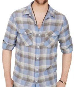 Denim & Supply Button Down Shirt light blue/grey plaid