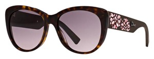 Dior NEW Christian Dior Brown Inedite Pink Jeweled Embellished Sunglasses