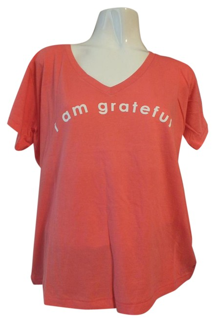 Preload https://item1.tradesy.com/images/peace-love-world-orangepink-marilyn-loose-fit-color-coral-small-tee-shirt-size-6-s-21259545-0-2.jpg?width=400&height=650