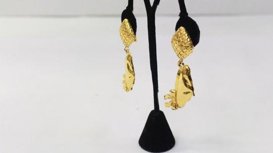 Chanel Coco's Beret Gold Tone Earrings