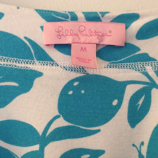Lilly Pulitzer short dress white with blue print on Tradesy