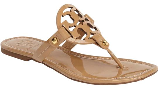 Tory Burch Miller Sand Patent Sandals Sandals On Sale