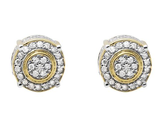 Other 9MM Three Dimension Flower Halo Diamond Stud Earring 0.75ct