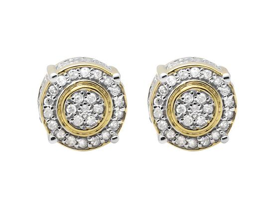 Preload https://item1.tradesy.com/images/10k-yellow-gold-9mm-three-dimension-flower-halo-diamond-stud-075ct-earrings-21259595-0-0.jpg?width=440&height=440