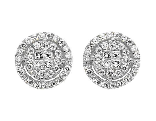 Preload https://item1.tradesy.com/images/14k-white-gold-11mm-halo-princess-invisible-quad-diamond-stud-150ct-earrings-21259635-0-0.jpg?width=440&height=440