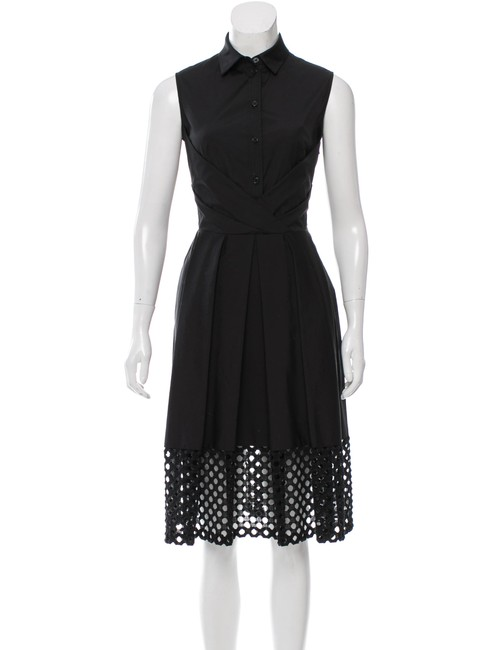 Lela Rose short dress Black Burberry Chanel Victoria Beckham The Row Gucci on Tradesy