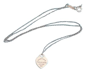 Tiffany & Co. Please Return to Tiffany & Co MINI Heart Tag Necklace