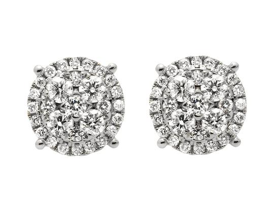 Preload https://img-static.tradesy.com/item/21259659/14k-white-gold-9mm-halo-flower-shaped-quad-genuine-diamond-stud-20ct-earrings-0-0-540-540.jpg