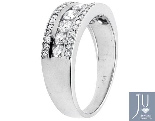 Other Three Row Round-Cut Diamond 8MM Wide Wedding Band Ring 1.20ct.