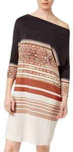 Free People short dress neutral Tunic Printed Off on Tradesy