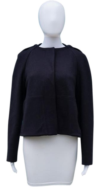 Stella McCartney Cropped Hoodie Wool NAVY Jacket