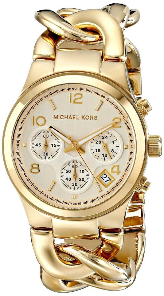 486c003279e5 Michael Antonio Kors Runway Twist Chronograph Gold-tone Ladies Watch MK3131  Image 0 ...