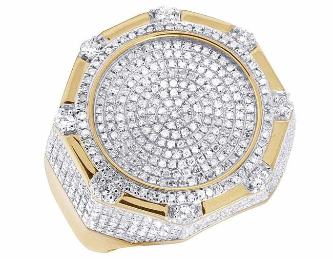 Jewelry Unlimited 10k Yellow Gold Real Diamond Octagon 3d Real Diamond 1 1/2 Ct Ring Jewelry Unlimited 10k Yellow Gold Real Diamond Octagon 3d Real Diamond 1 1/2 Ct Ring Image 1