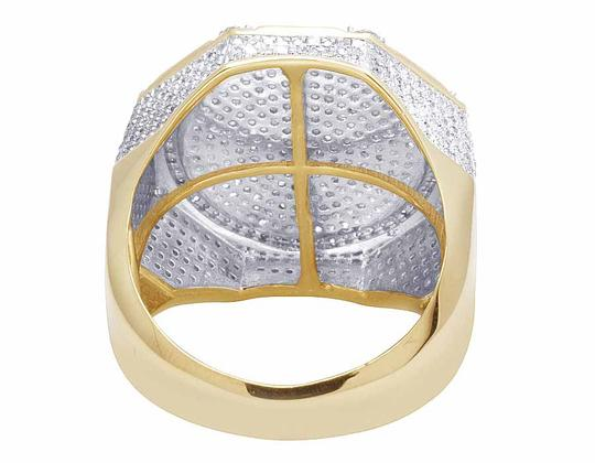 Other 10K Yellow Gold Real Diamond Octagon 3D Real Diamond Ring 1 1/2 ct