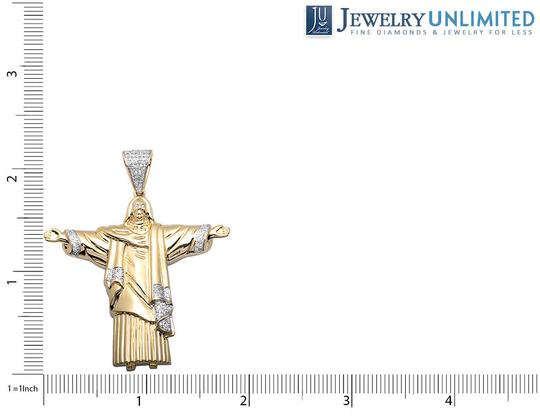 Other Jesus 1.75 Inch Christ the Redeemer Diamond Pendant Charm 1/2CT