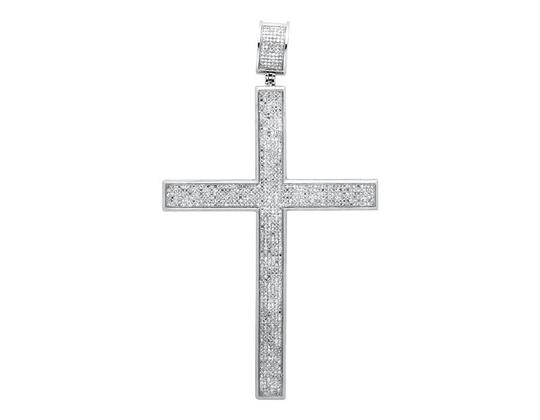 Preload https://img-static.tradesy.com/item/21259776/10k-white-gold-multi-row-diamond-traditional-cross-45-inch-pendant-30ct-charm-0-0-540-540.jpg