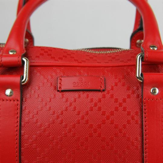 Gucci Leather Hilary Lux Zipper Red Travel Bag
