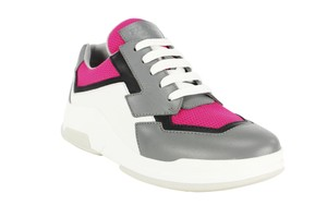 Prada Lace Up Fashion Leather Sneakers Women Pink Athletic