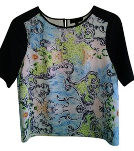 MM Couture Top Black Sleves with floral print