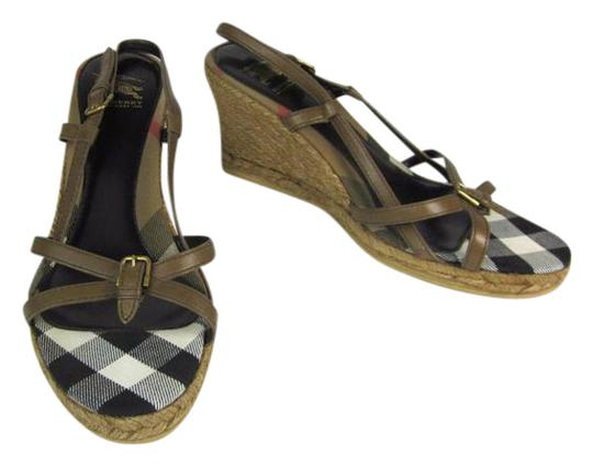 Preload https://item2.tradesy.com/images/burberry-brown-leather-and-nova-check-sz-m-wedges-sandals-size-us-95-regular-m-b-21259826-0-1.jpg?width=440&height=440