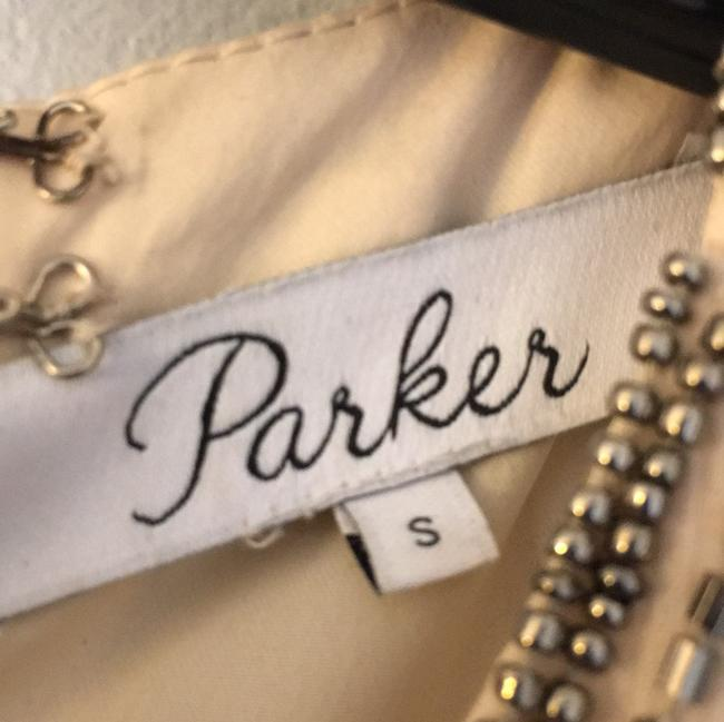 Parker short dress cream with sequin and beading detail on Tradesy
