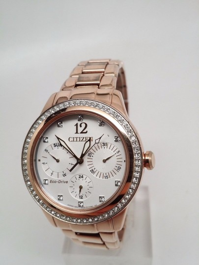 Citizen Eco-Drive Silhouette Crystals Multifunction Women's Watch FD2013-50A S