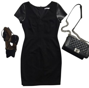 Bailey 44 Short Sleeve Faux Leather Cocktail Dress