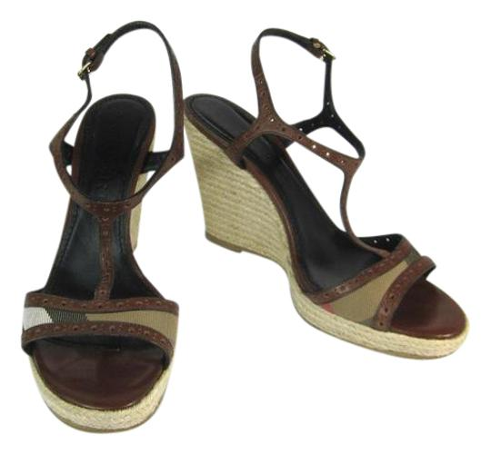 Preload https://item1.tradesy.com/images/burberry-brown-leather-and-nova-check-sz-m-wedges-sandals-size-us-105-regular-m-b-21259875-0-1.jpg?width=440&height=440