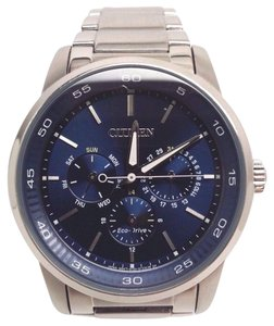 Citizen Eco-Drive BU2010-57L Men's Blue Dial Chronograph Stainless Steel Watch