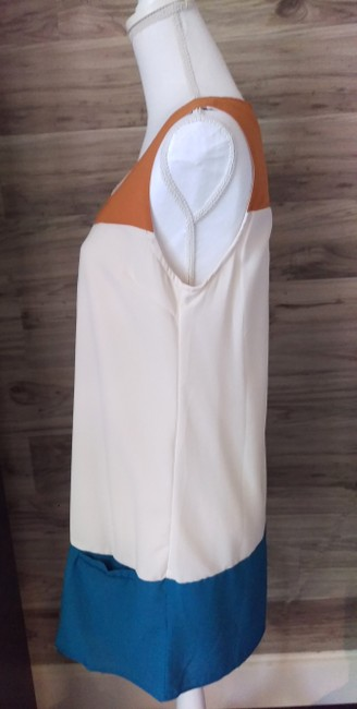 Only Mine short dress Beige Colorblock Cute Sleeveless on Tradesy