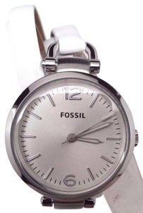Fossil G eorgia Stainless Steel Leather Ladies Watch ES3246 All Links Are Missi