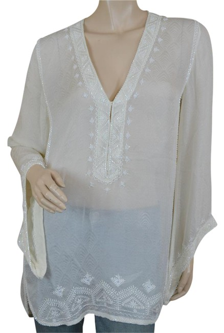Preload https://item3.tradesy.com/images/calypso-st-barth-cream-beaded-silk-tunic-size-2-xs-21259937-0-1.jpg?width=400&height=650