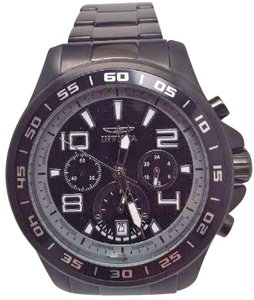 Invicta Men's 14395 Specialty Chronograph Black And Grey Dial Black Ion Watch