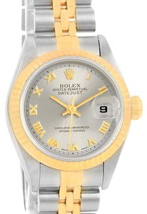 Rolex Rolex Datejust Steel Yellow Gold Slate Roman Dial Ladies Watch 69173