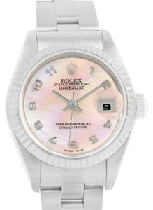 Rolex Rolex Datejust Steel 18K White Gold Mother of Pearl Dial Watch 79174