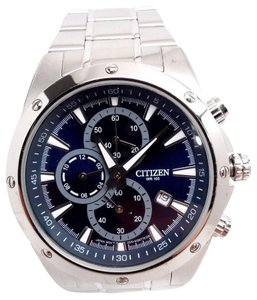 Citizen AN3530-52L Mens Stainless Steel Chronograph Blue Dial Quartz Watch