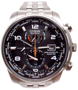 Citizen Eco-Drive Mens Radio Controlled World Time Watch AT9010-52E