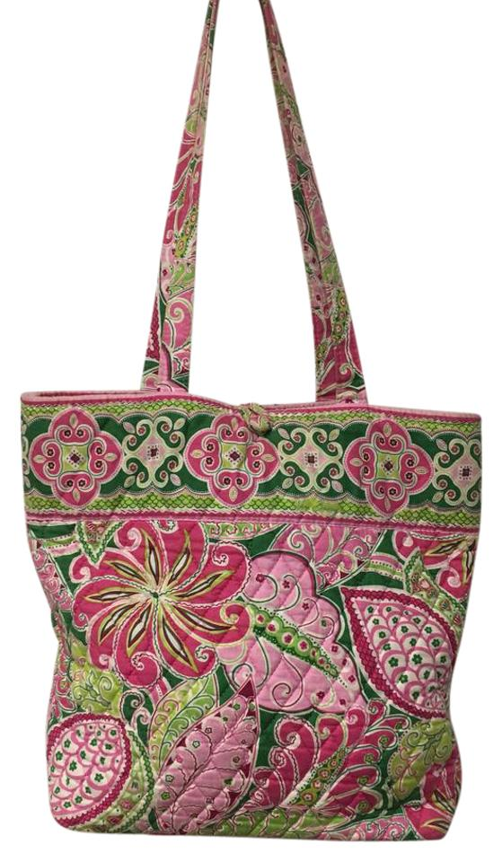8c11f2d665f9 Vera Bradley Pinwheel Pink Quilted Cotton Tote - Tradesy